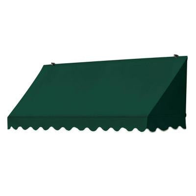 6 ft. Traditional Manually Retractable Awning (Projection 26.5 in.) in Forest Green