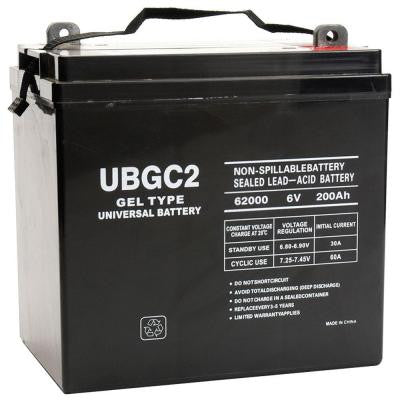 SLA Gel 6-Volt 200 Ah L5 L Post Terminal Battery