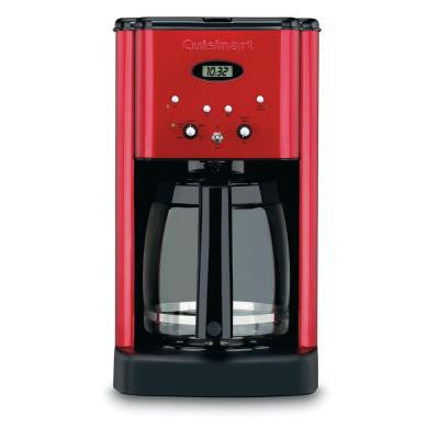 Brew Central 12-Cup Programmable Coffee Maker in Metallic Red