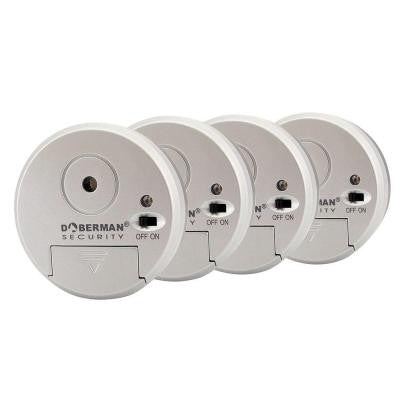 Home Security Wireless Mini Window Alarm (4-Pack)