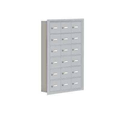19000 Series 24 in. W x 36.5 in. H x 5.75 in. D 18 A Doors R-Mount Keyed Locks Cell Phone Locker in Aluminum