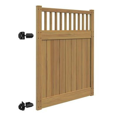 Canyon 5 ft. x 6 ft. Cypress Vinyl Un-Assembled Fence Gate
