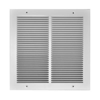 6 in. x 6 in. Steel 1/3 in. Fin Spaced Return Air Grille