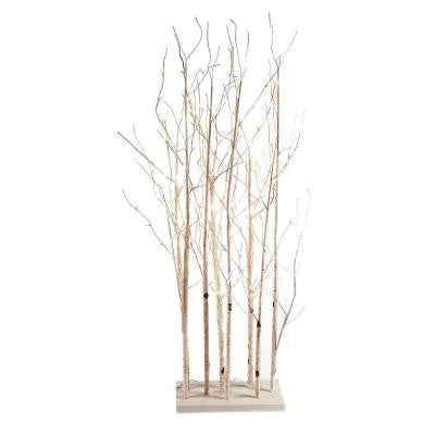 67 in. Electric White Aspen Grove Forest Branches