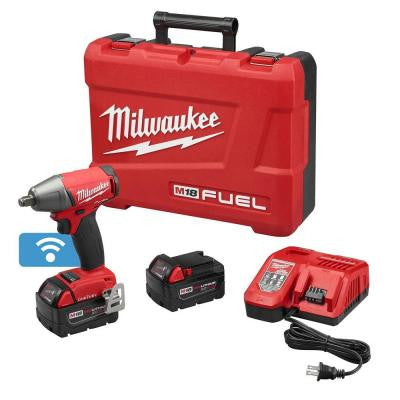 M18 FUEL 18-Volt Lithium-Ion Brushless 1/2 in. Cordless Impact Wrench Friction Ring Kit with ONE-KEY