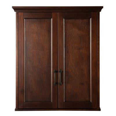 Ashburn 23-1/2 in. W Wall Cabinet in Mahogany