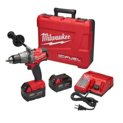 M18 FUEL 18-Volt Lithium-Ion Brushless 1/2 in. Hammer Drill/Driver XC Kit