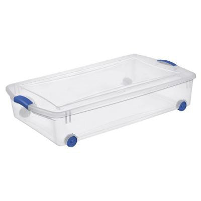 50 qt. Wheeled Latch Storage Box (4-Pack)