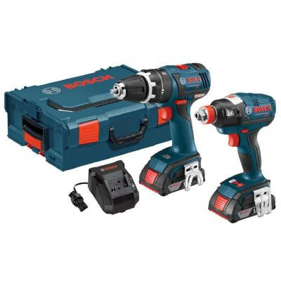 18-Volt Lithium-Ion Cordless EC Brushless L-Boxx Combo Kit with (2) SlimPack 2Ah Batteries (2-Tool)