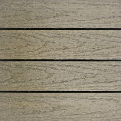 UltraShield Naturale 1 ft. x 1 ft. Outdoor Composite Quick Deck Tile Sample in Roman Antique