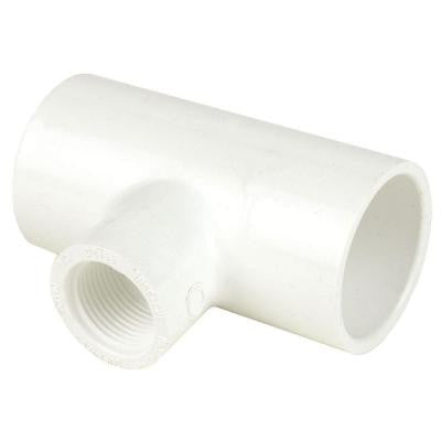 4 in. x 4 in. x 1/2 in. Schedule 40 PVC Reducing Tee SxSxFPT