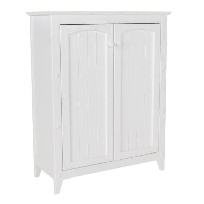 36 in. Wood Linen Cabinet in White