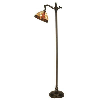 Baroque Collection 63-1/4 in. Down Bridge Antique Bronze Floor Lamp