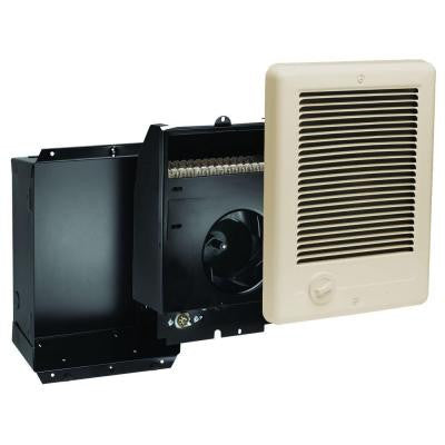 Com-Pak 1,500-Watt 240-Volt Fan-Forced In-Wall Electric Heater in Almond
