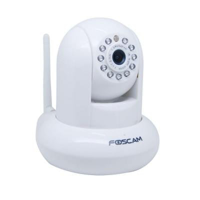 Wireless 720P HD Indoor Tilt IP Dome Shaped Video Surveillance Camera - White