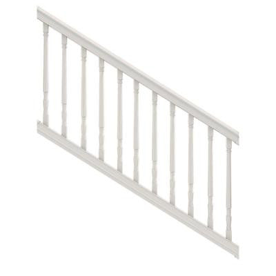 6 ft. x 36 in. Vinyl Premier Stair Rail with Colonial Balusters White