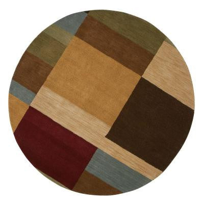 Omega Multi 5 ft. 9 in. Round Area Rug