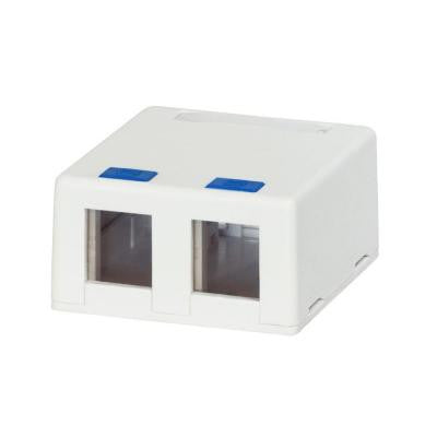 2-Port Category 5e and Category 6 Surface Mounting Box