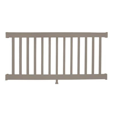 Vanderbilt 42 in. x 48 in. Vinyl Khaki Straight Rail Kit
