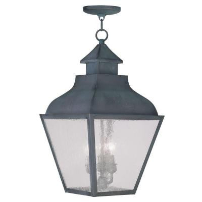 Providence 3-Light Hanging Outdoor Charcoal Incandescent Lantern