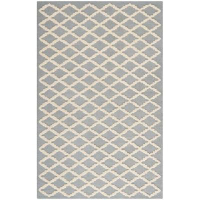 Cambridge Silver/Ivory 5 ft. x 8 ft. Area Rug