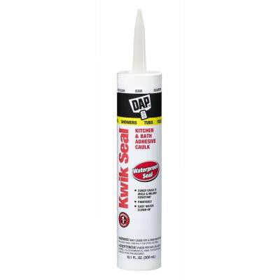 Kwik Seal 10.1 oz. Clear Kitchen and Bath Adhesive Caulk