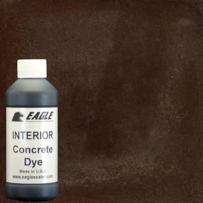 1 gal. Cola Interior Concrete Dye Stain Makes with water from 8 oz. Concentrate