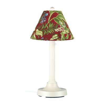 San Juan 30 in. Outdoor White Table Lamp with Lacquer Shade