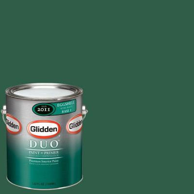 1-gal. #GLG31 Forest Green Eggshell Interior Paint with Primer