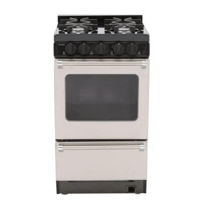 ProSeries 20 in. 2.42 cu. ft. Battery Spark Ignition Gas Range in Stainless Steel