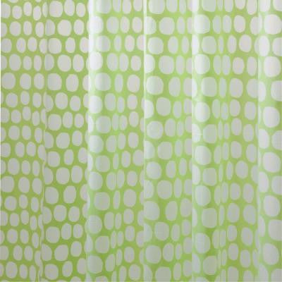 Honeycomb EVA Shower Curtain in Lime