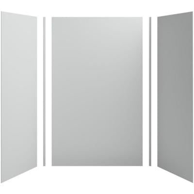 Choreograph 60in. X 36 in. x 96 in. 5-Piece Shower Wall Surround in CrossCut Biscuit for 96 in. Showers