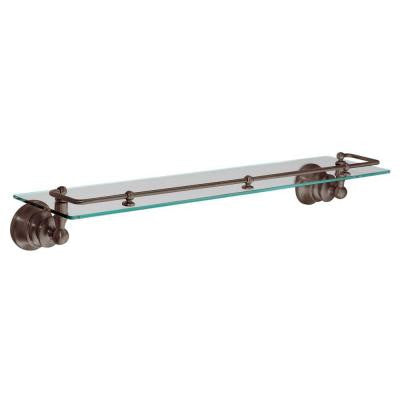 Waterhill 22.8 in. W Glass Shelf in Oil Rubbed Bronze