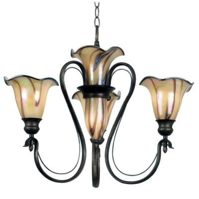 Inverness 5-Light Tuscan Silver Chandelier