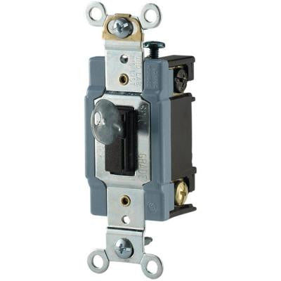 15 Amp 120/277-Volt Industrial Grade Toggle Switch - Locking