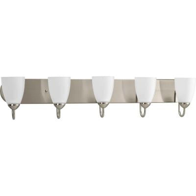Gather Collection 5-Light Brushed Nickel Vanity Fixture