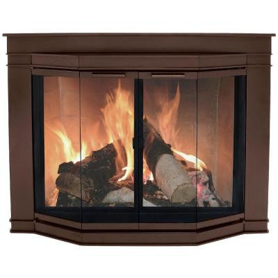Glacier Bay Small Glass Fireplace Doors