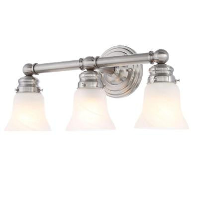 3-Light Brushed Nickel Bath Sconce