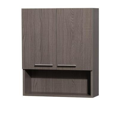 Amare 24 in. W x 8-3/4 in. D x 29 in. H Wall Cabinet in Grey Oak