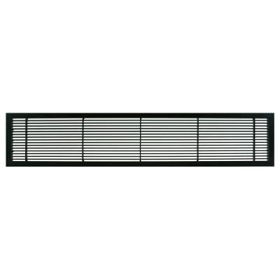AG10 Series 4 in. x 12 in. Solid Aluminum Fixed Bar Supply/Return Air Vent Grille, Black-Matte