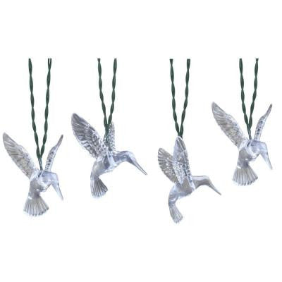 Solar Powered Clear Outdoor LED Hummingbirds String Light