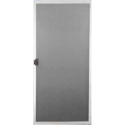 36 in. x 80 in. White Screen Door
