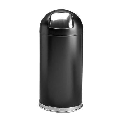 15 Gal. Black Round Top Trash Can