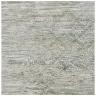 Patchwood Silver 9-1/2 in. x 9-1/2 in. Porcelain Floor and Wall Tile (10.76 sq. ft. / case)