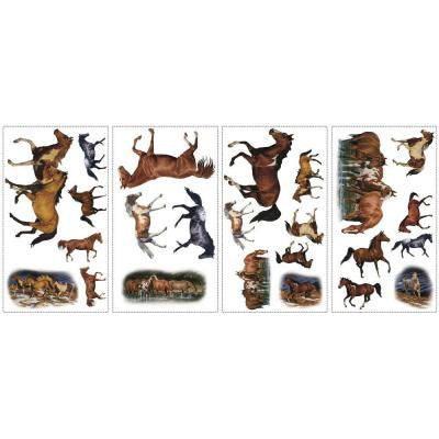 5 in. x 11.5 in. Wild Horses Peel and Stick Wall Decal