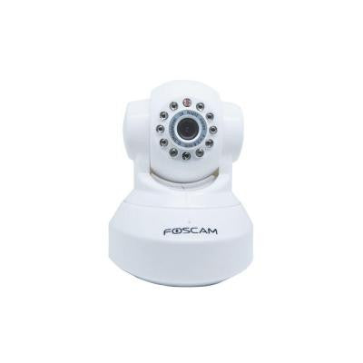 Wireless 480p Indoor Dome Shaped Pan/Tilt IP Security Camera - White