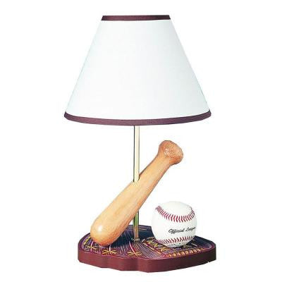 Cooper 15 in. Multicolor Baseball Incandescent Novelty Lamp