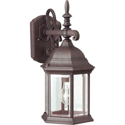 1 Light Outdoor Painted Rust Wall Lantern