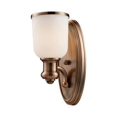 Brooksdale 1-Light Antique Copper Sconce