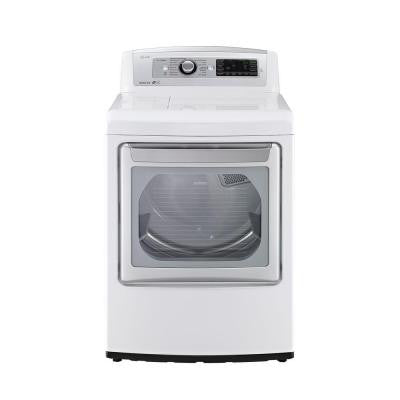EasyLoad 7.3 cu. ft. Electric Dryer with Steam in White